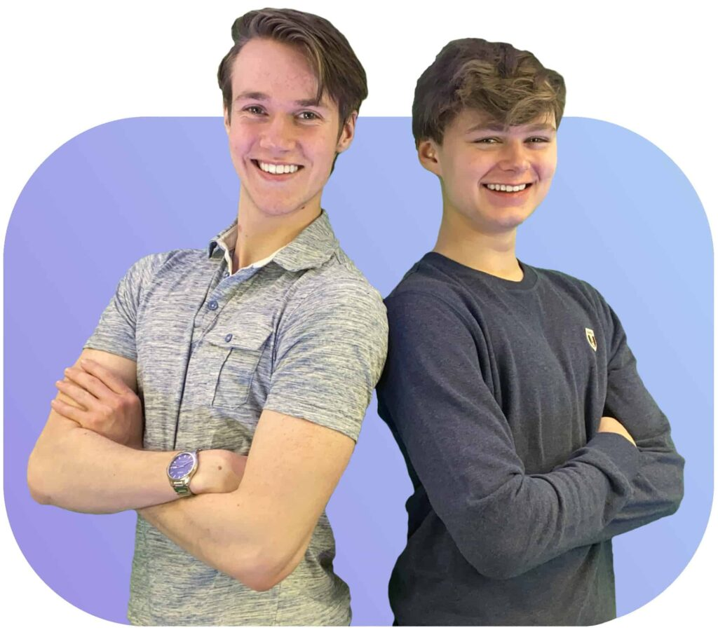 Stian og Andreas lager nettsider